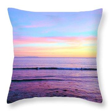 Left Right Sunset Throw Pillow