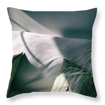 Throw Pillow featuring the photograph Leftover Light by Steven Huszar