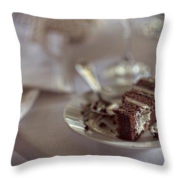 Leftover Wedding Cake Throw Pillow