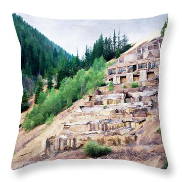 Leftovers From Sunnyside Mill Throw Pillow by Lana Trussell