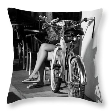 Leg Power - B And W Throw Pillow