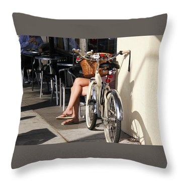 Leg Power - On Montana Avenue Throw Pillow