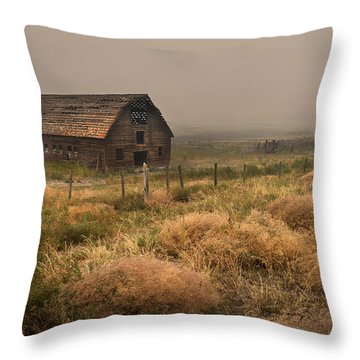 Legacy - Haynes Ranch Barn Throw Pillow by John Poon