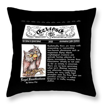 Real Fake News Legal Columnist 2 Throw Pillow by Dawn Sperry