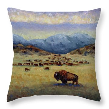 Legend Throw Pillow by Linda Hiller