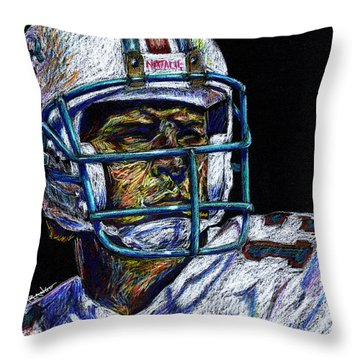 Legend Throw Pillow by Maria Arango