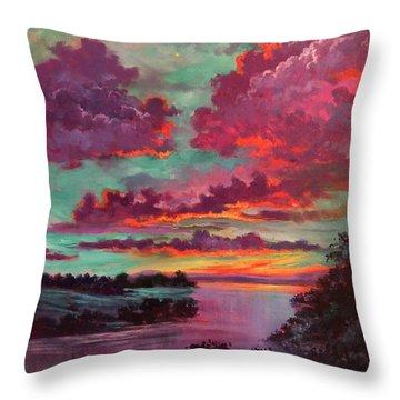 Legend Of A Sunset Throw Pillow