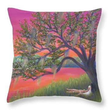 Legend Of The Wind Song Of The Marsh Throw Pillow
