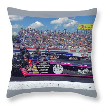 Legends At The Line Throw Pillow by Jerry Battle