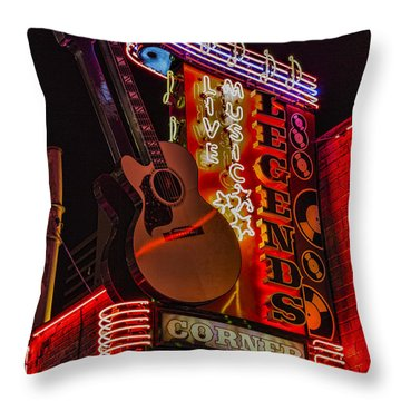 Legends Corner Nashville Throw Pillow