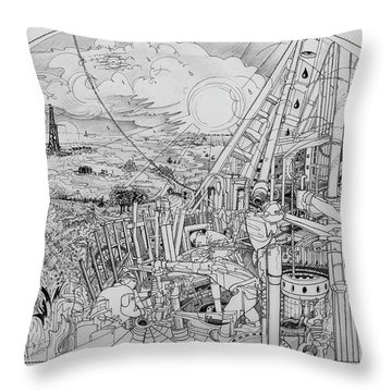 Legends Of Rig Ram Throw Pillow