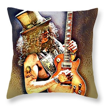 Legends Of Rock - Slash - Sweet Child Throw Pillow