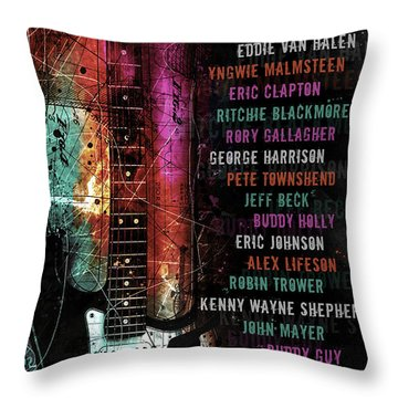 Legends Of The Strat Throw Pillow