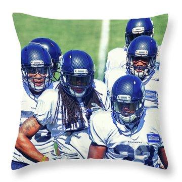 Legion Of Boom Throw Pillow