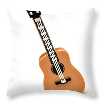 Lego Guitar Throw Pillow