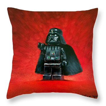 Lego Vader Throw Pillow