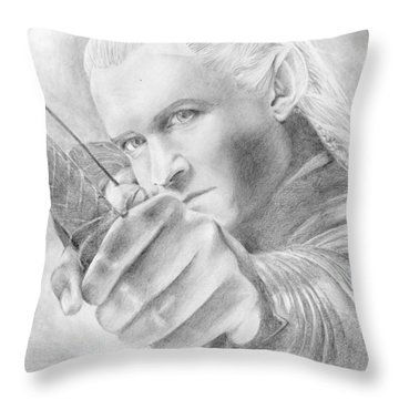 Legolas Greenleaf Throw Pillow by Bitten Kari