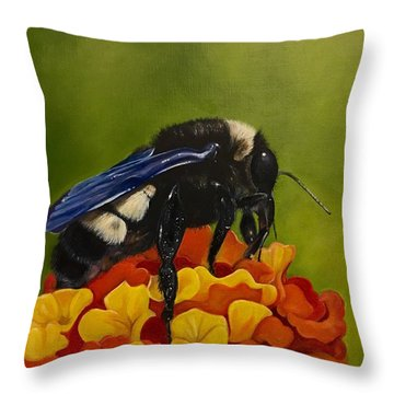 Legs Adorned With Pollen Throw Pillow