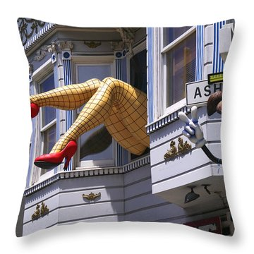 Legs In Window Sf Throw Pillow by Garry Gay
