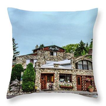 Throw Pillow featuring the photograph Legs Inn Of Cross Village by Bill Gallagher