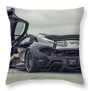 #mclaren #mso #p1 #wheels And #heels Throw Pillow