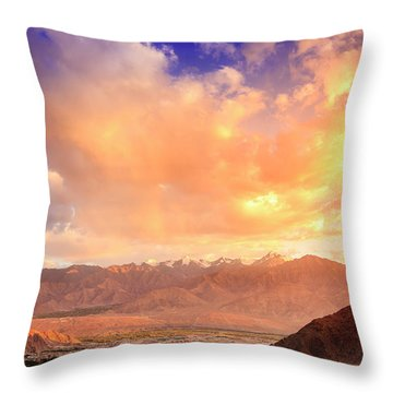 Throw Pillow featuring the photograph Leh, Ladakh by Alexey Stiop