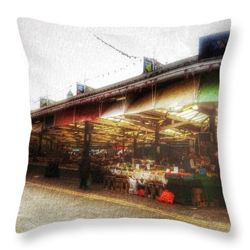 Throw Pillow featuring the photograph Leicester Market by Isabella F Abbie Shores FRSA