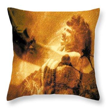 Lele Ka Houpo I Ka Oli Oli Throw Pillow by Kenneth Grzesik