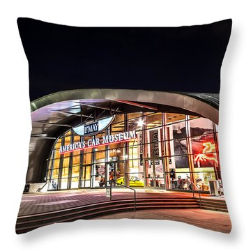 Lemay Car Museum - Night 1 Throw Pillow