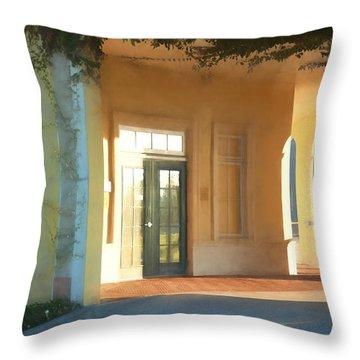 Lemon Arches Tangerine Walls Throw Pillow