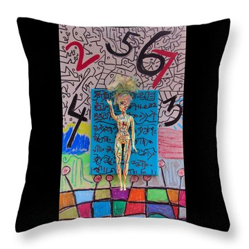 Throw Pillow featuring the painting Lemon Balm Herbal Tincture by Clarity Artists