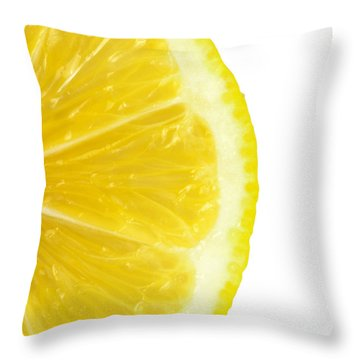 Lemon Close Up Throw Pillow by Deyan Georgiev