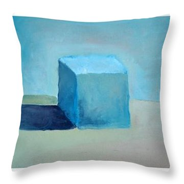 Lemon Cube Sphere Throw Pillow