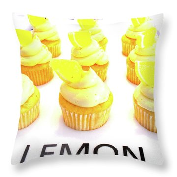 When Life Gives You Lemons Throw Pillow by Beth Saffer