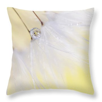 Throw Pillow featuring the photograph Lemon Drop by Amy Tyler