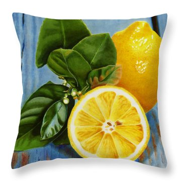 Lemon Fresh Throw Pillow
