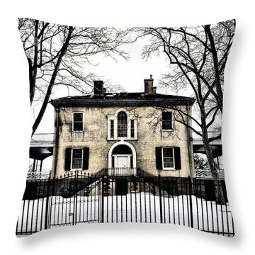 Lemon Hill Mansion - Philadelphia Throw Pillow by Bill Cannon