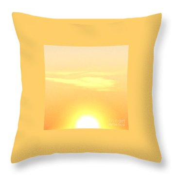 Lemon Meringue Sky Throw Pillow by Patricia E Sundik