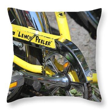 Lemon Peeler Throw Pillow by Lauri Novak