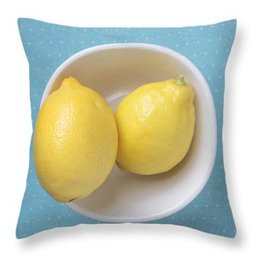 Lemon Pop Throw Pillow by Edward Fielding