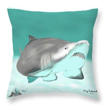 Lemon Shark Throw Pillow