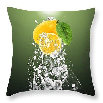 Lemon Splast Throw Pillow