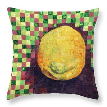 Lemon Squares Throw Pillow by Shawna Rowe