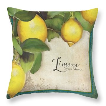 Lemon Tree - Limone Citrus Medica Throw Pillow by Audrey Jeanne Roberts