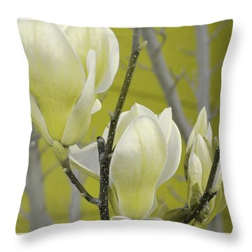 Throw Pillow featuring the photograph Lemon Yellow by Athala Carole Bruckner
