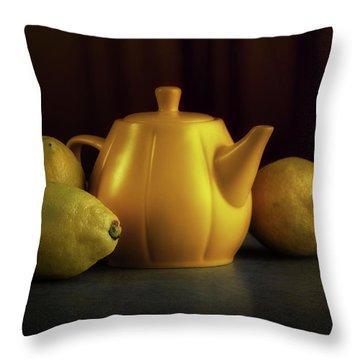 Lemon Yellow Throw Pillow