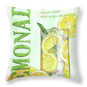 Throw Pillow featuring the painting Lemonade by Debbie DeWitt