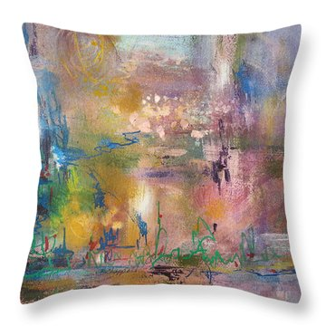 Lemonade From Lemons Throw Pillow by Becky Chappell