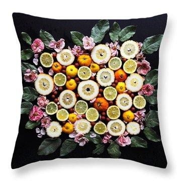 Lemonade Vibes Throw Pillow