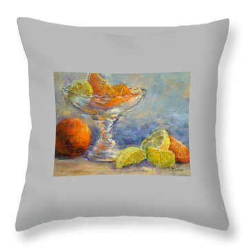 Lemons And Oranges Throw Pillow by Jill Musser